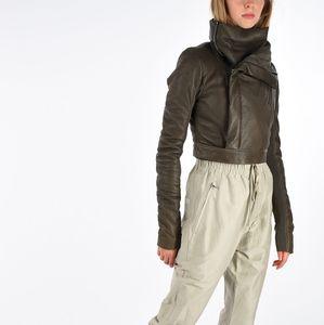 Rick Owens SS18 Biker cropped leather jacket BNWT